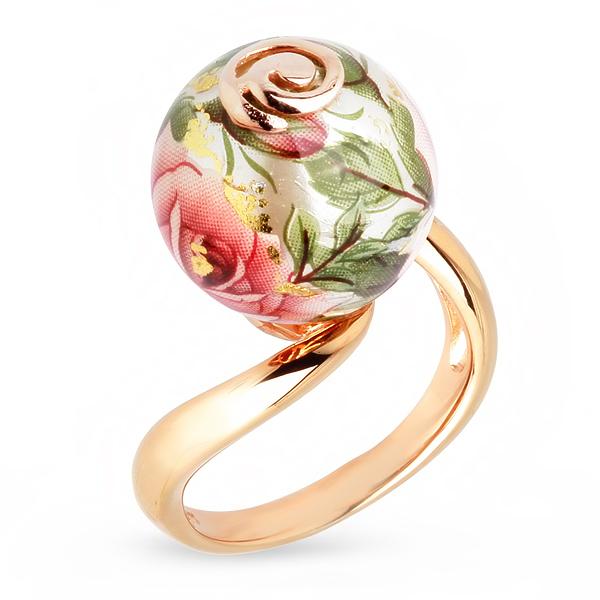 Купить Серебряное кольцо с акрилом JSR0229-2, Японские цветы