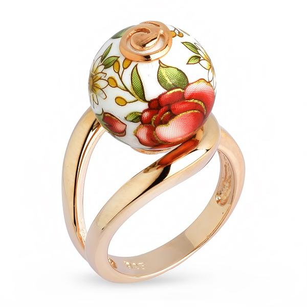 Купить Серебряное кольцо с акрилом JSR0533-1, Японские цветы