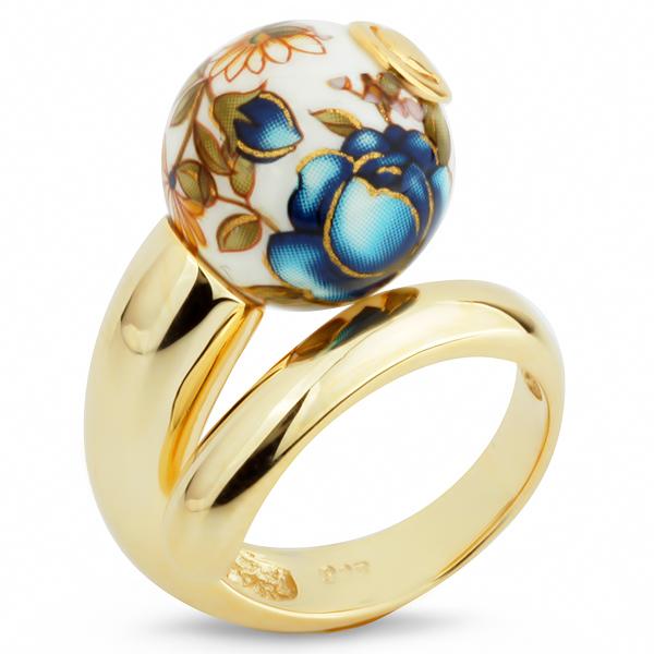 Купить Серебряное кольцо с акрилом JSR0699-1, Японские цветы