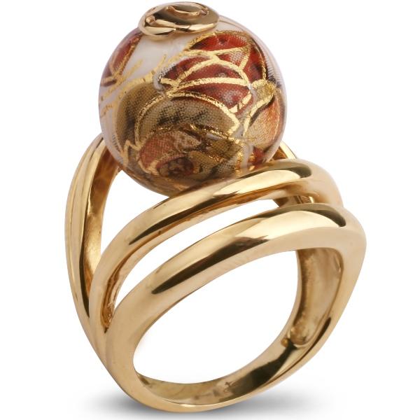 Купить Серебряное кольцо с акрилом JSR0769G, Японские цветы