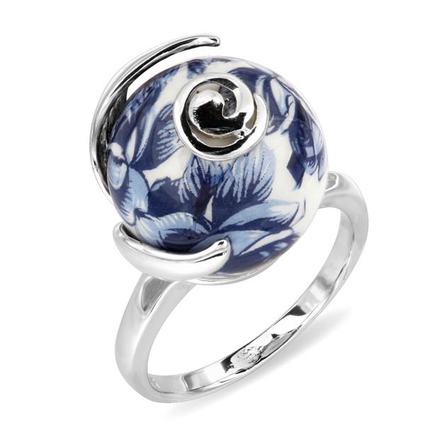 Купить Серебряное кольцо с акрилом JSR1171-3, Японские цветы