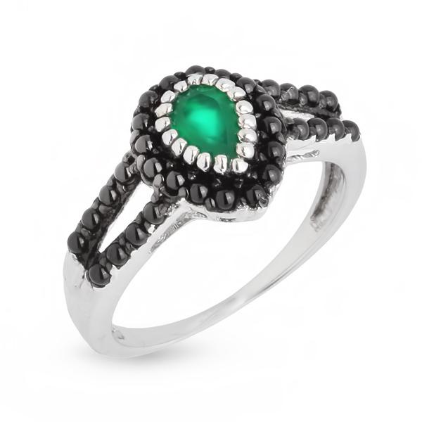 Купить Серебряное кольцо Sandara с агатом и фианитами LGR033