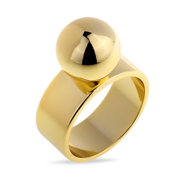 Купить Впечатляющее позолоченное кольцо из латунного сплава MJR040B, Mercery