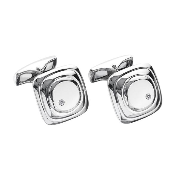 Купить со скидкой Серебряные запонки Hot Diamonds с бриллиантами MM108