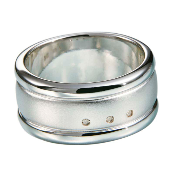Фото #1: Мужское серебряное кольцо Hot Diamonds с бриллиантами MR002