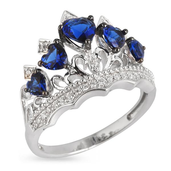 Купить Серебряное кольцо Sandara Ice с иск. сапфиром PJR131