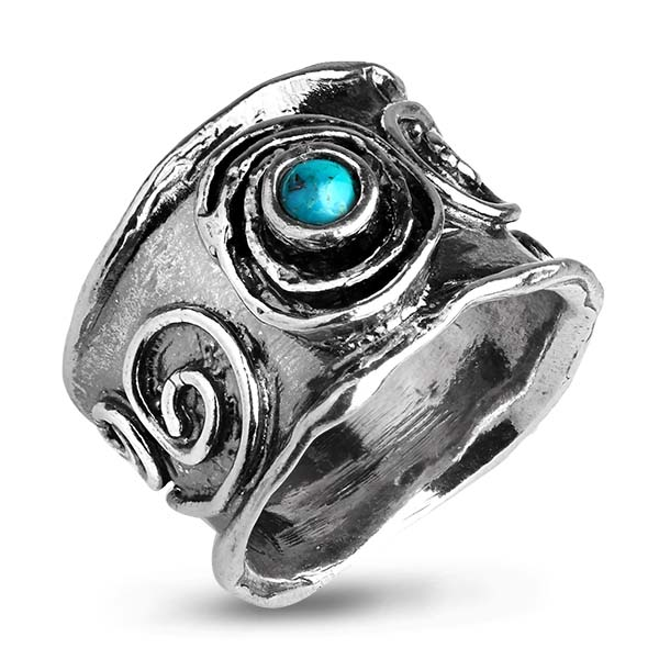 Купить Серебряное кольцо Yaffo с бирюзой SAR1041