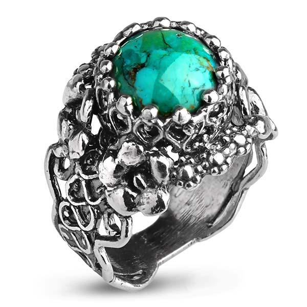 Купить Серебряное кольцо Yaffo с бирюзой SAR1065