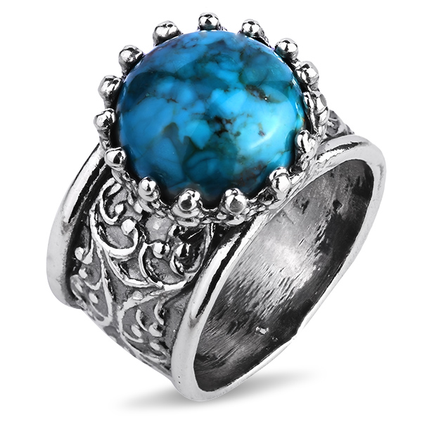 Купить Серебряное кольцо Yaffo с бирюзой SAR1132