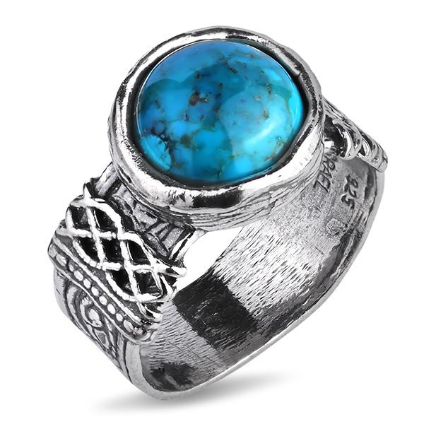 Купить Серебряное кольцо Yaffo с бирюзой SAR1175