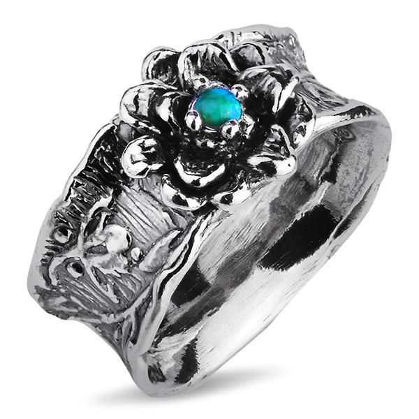 Купить Серебряное кольцо Yaffo с бирюзой SAR1187