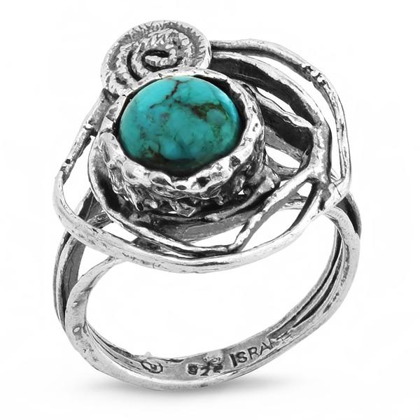 Купить Серебряное кольцо Yaffo с бирюзой SAR292