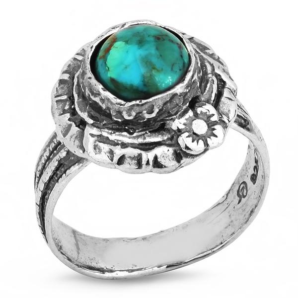 Купить Серебряное кольцо Yaffo с бирюзой SAR296