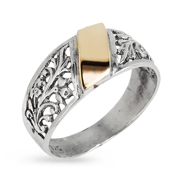Купить Серебряное кольцо Yaffo с золотом SAR335