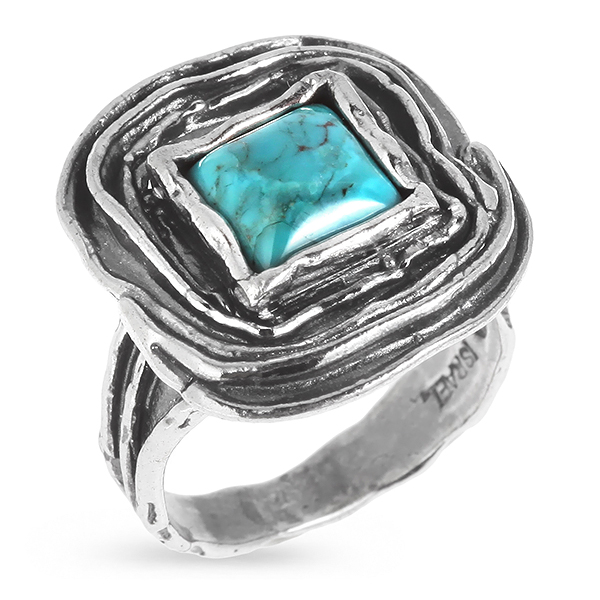 Купить Серебряное кольцо Yaffo с бирюзой SAR389