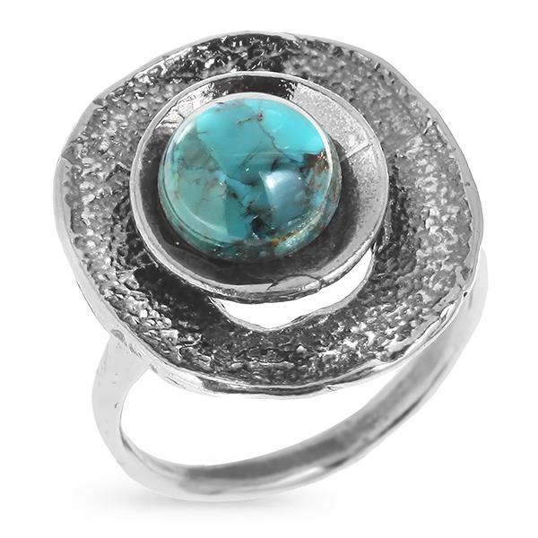 Купить Серебряное кольцо Yaffo с бирюзой SAR416
