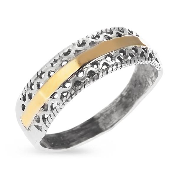 Купить Серебряное кольцо Yaffo с золотом SAR427