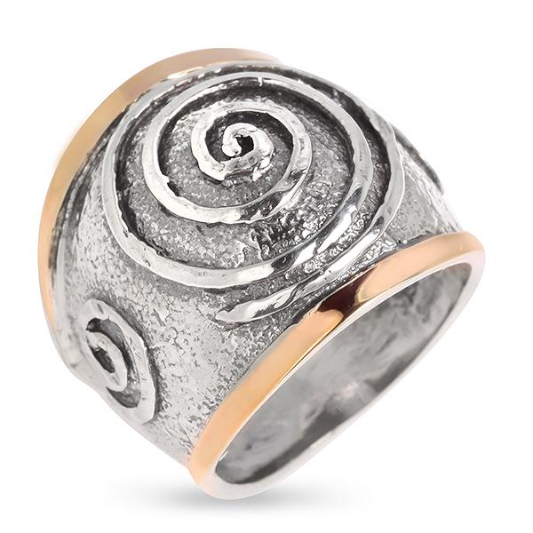 Купить Серебряное кольцо Yaffo с золотом SAR655