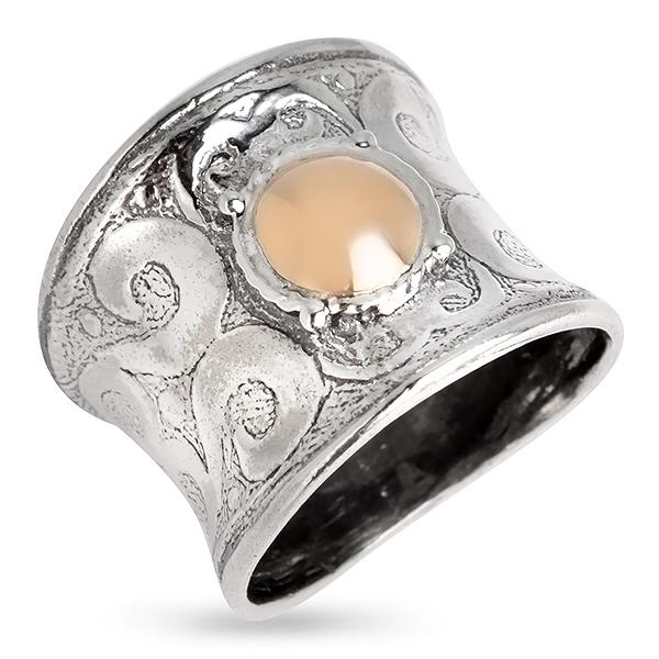 Купить Серебряное кольцо Yaffo с золотом SAR657
