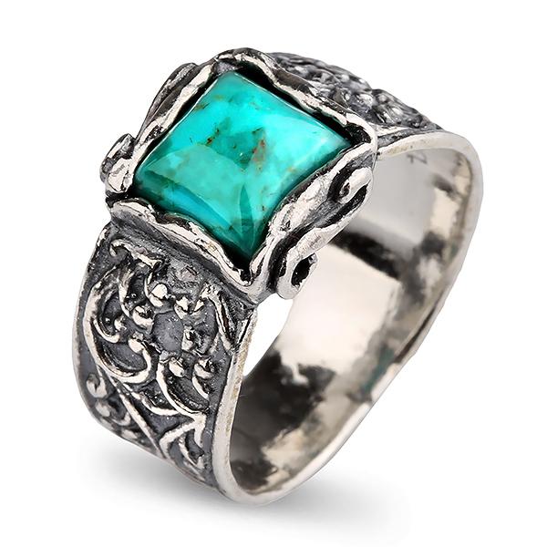 Купить Серебряное кольцо Yaffo с бирюзой SAR801