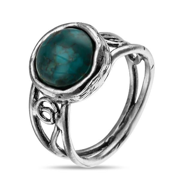 Купить Серебряное кольцо Yaffo с бирюзой SAR881
