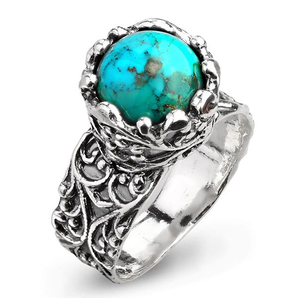 Купить Серебряное кольцо Yaffo с бирюзой SAR966