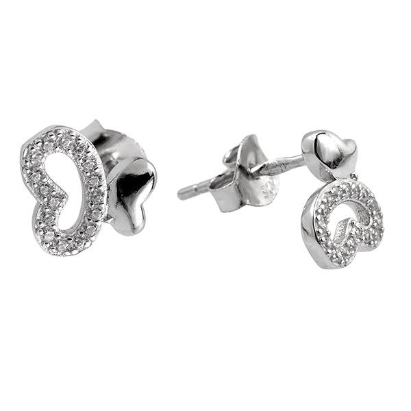 Купить Серебряные серьги Sandara Ice с фианитами SGE046