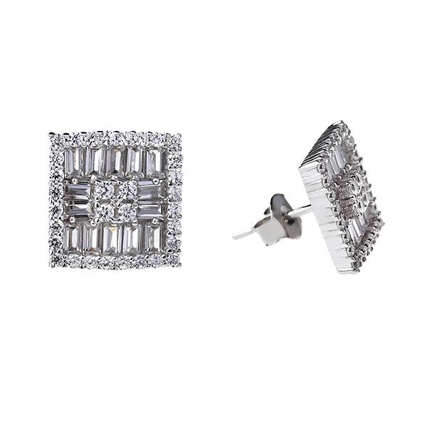 Купить Серебряные серьги Sandara Ice с фианитом SJE029