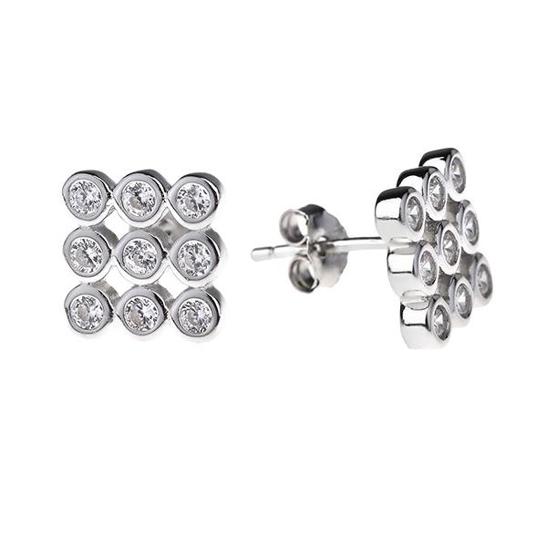 Купить Серебряные серьги Sandara Ice с фианитом SJE040
