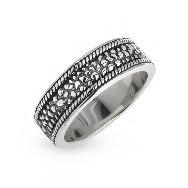 Купить со скидкой Мужское серебряное кольцо WPR009