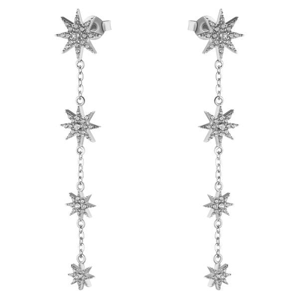 Купить Серебряные серьги Sandara Ice с фианитом XCE008