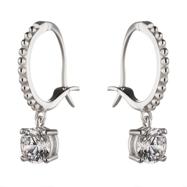 Купить Серебряные серьги Sandara Ice с фианитом XCE046