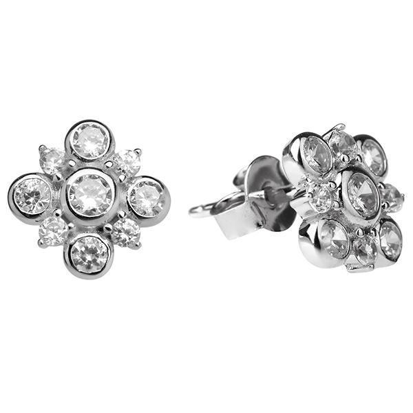 Купить Серебряные серьги Sandara Ice с фианитом XCE140