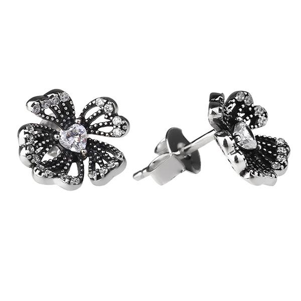 Купить Серебряные серьги Sandara Ice с фианитом XCE219