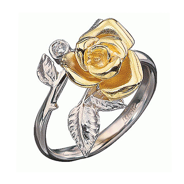 кольцо с черным бриллиантом. Кольца с