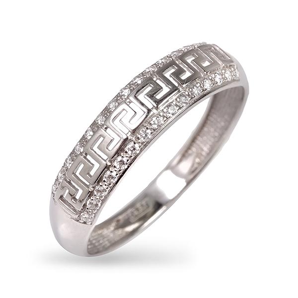 Купить со скидкой Серебряное кольцо с фианитом 1-429