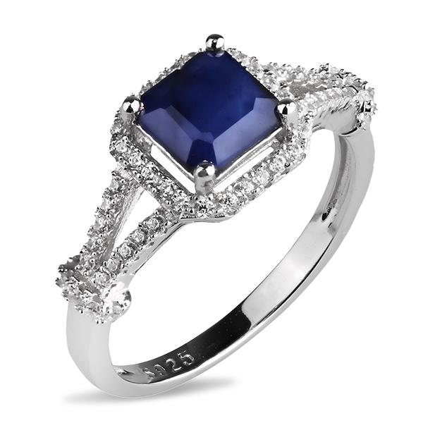 Купить Серебряное кольцо Sandara с сапфиром и фианитами ANR3067, Sandara сапфиры
