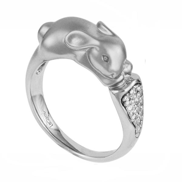 Купить со скидкой Серебряное кольцо с фианитом C10230