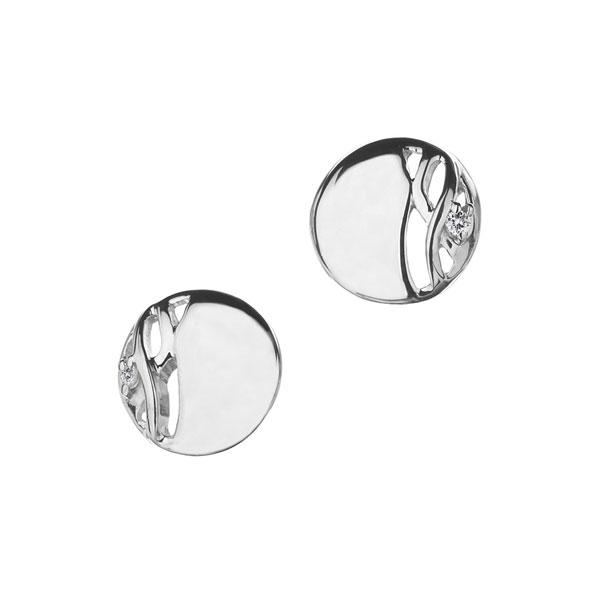 Купить Серебряные серьги Hot Diamonds с бриллиантами DE223