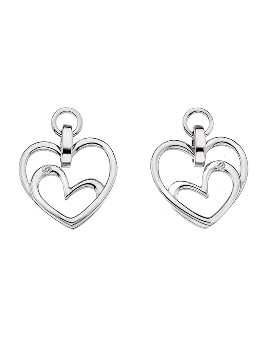 Купить со скидкой Серебряные серьги Hot Diamonds c бриллиантами DE344