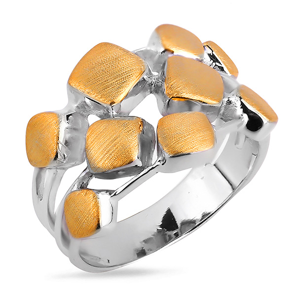 Купить Серебряное кольцо Sandara Ice с позолотой DJR003