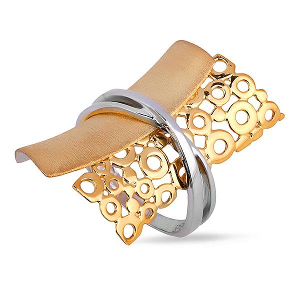 Серебряное кольцо Sandara Ice с позолотой DJR009  - купить со скидкой