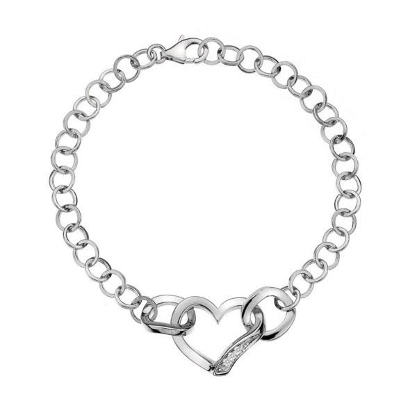 Фото #1: Серебряный браслет Hot Diamonds с бриллиантами DL265