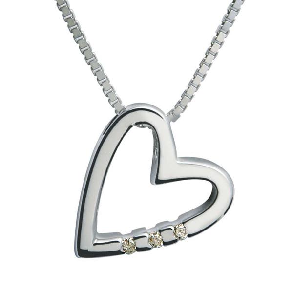 Купить со скидкой Серебряный кулон Hot Diamonds с бриллиантами на цепи, размер 40-45 см DP007