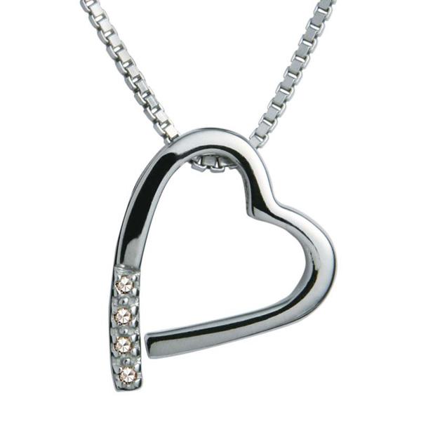 Купить Серебряный кулон на цепи Hot Diamonds с бриллиантами на цепи, размер 40-45 см DP100