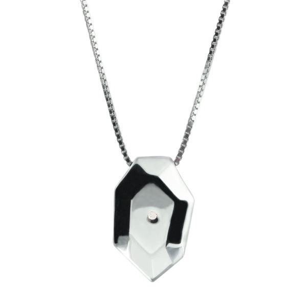 Купить Серебряный кулон Hot Diamonds с бриллиантом на цепи, размер 40-45 см DP157