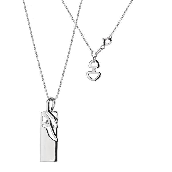 Купить Серебряный кулон Hot Diamonds с бриллиантом на цепи, размер 40-45 см DP202