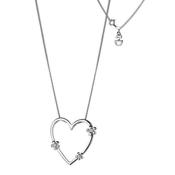 Купить Серебряный кулон Hot Diamonds с бриллиантами на цепи, размер 40-45 см DP235