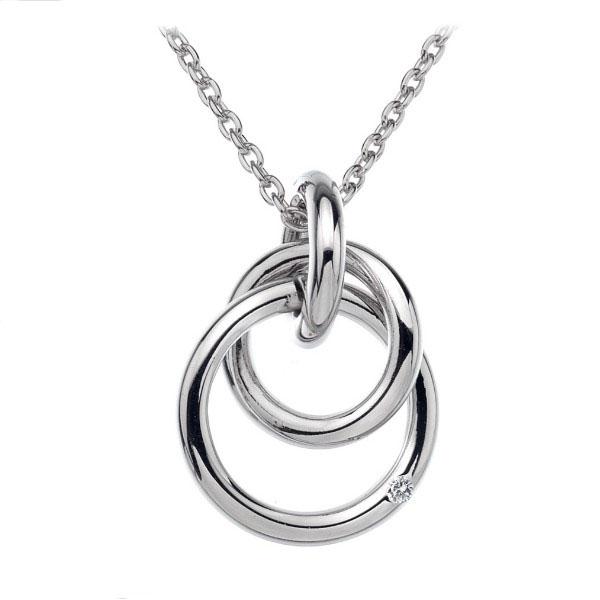 Купить Серебряный кулон Hot Diamonds с бриллиантом на цепи, размер 40-45 см DP372