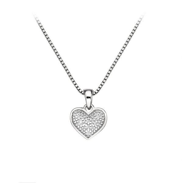Купить Серебряный кулон Hot Diamonds с бриллиантами на цепи, размер 40-45 см DP537